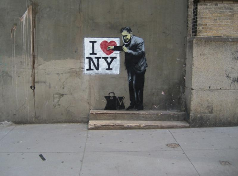banksy - i heart new york nyc